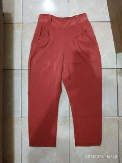 Celana baggy warna bata import