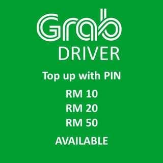 Grab Driver Topup/Reload With Pin RM 50.00