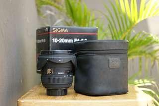 Lensa Wide Sigma EX 10-20mm For Nikon