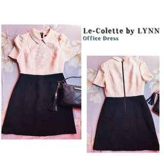 Le-Colette Textured Office Dress