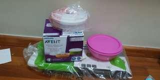 All for $20 avent storage and oxo food feeezer tray