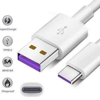 5A Fast charging Type C cable
