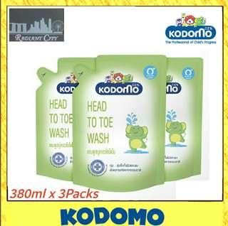 [BUNDLE OF 3] KODOMO Head To Toe Wash 400ml / 600ml /800ml - Made In Thailand