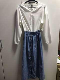 Blouse and Skirt Jeans