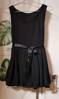 Black Pleated Dress Top