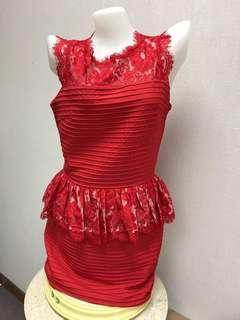 Brand new premium lace red dress