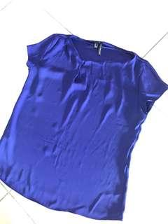 MNG blue blouse