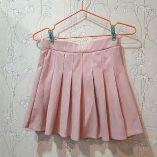 (免運)【百褶裙】日韓學生風百搭粉色百摺裙網球裙