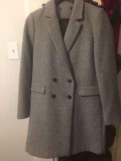 Zara long grey coat