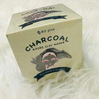 Clay mask masker wajah ms glow charcoal