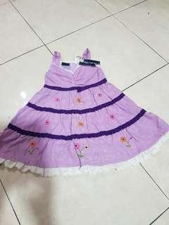 purple  embroidery  dress age  3