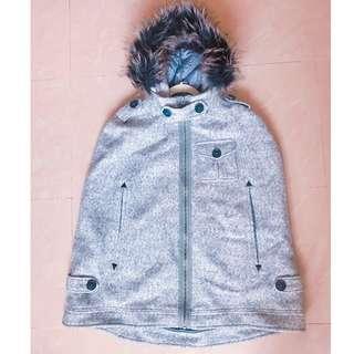 Super Dry 羊毛斗篷外套