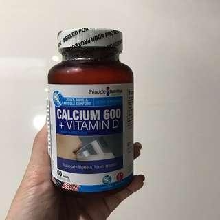 Brand New Principle Nutrition Calcium + Vitamin D