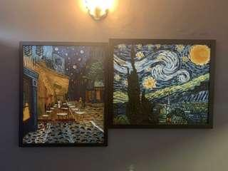 Van Gogh- Oil paintings Framed.