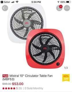 """🚚 Mistral 10"""" fan ($53 for 2!) offer!"""