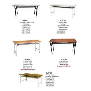 training table flat edge bullnose metal stand