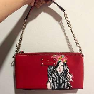 🚚 Authentic Kate Spade Bag - Hand painted
