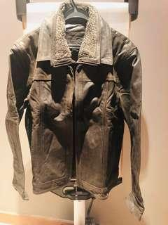 Men leather jacket, fully lined