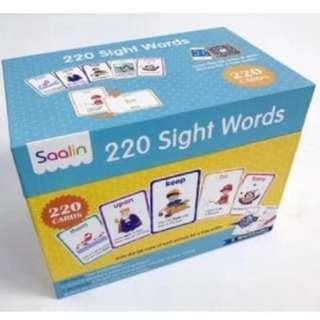 🚚 SAALIN 220 Sight Words Cards