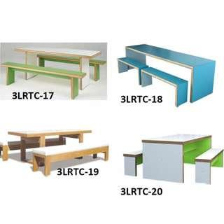 resto table and chairs