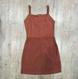🚚 Cotton On Gia Strappy Pinafore Dress in rust orange