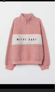 H&m pink collar sweatshirt bukan zara bershka