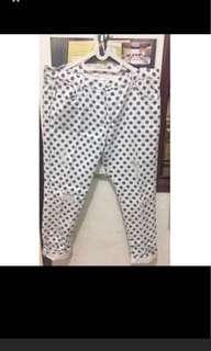 Zara polkadot ripped jeans bukan h&m pull bear