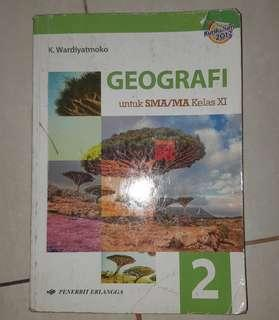 Geografi SMA XI dan XII kelas 2 dan 3 Erlangga kurikulum 2013
