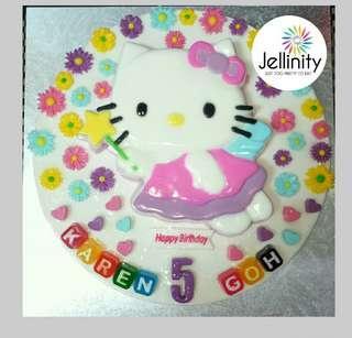 """12"""" Hello Kitty Angel Birthday Jelly cake"""
