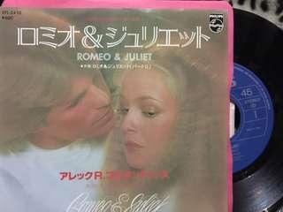 歌曲: Romeo & Juliet  格式: 日版7'' 售價:HK$60 Philip record  品番:SFL-2410  Side track: Romeo & Juliet part 2  狀態: 美品 付屬: 歌詞/ 解說