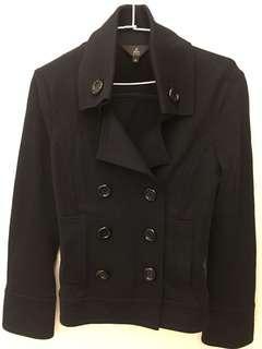 🚚 短版雙排釦外套二手 便宜$200!!(黑色)