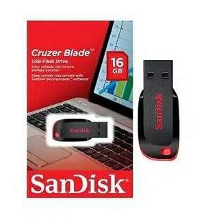 Flashdisk sandisk cruzer blade 16GB - original