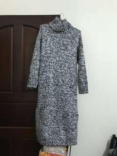 粗針織高領長洋裝 轉售fifi陳佳瑜二手衣物