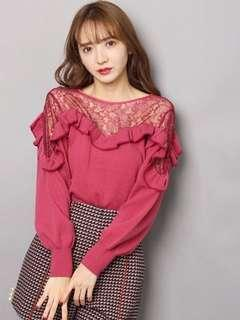 Lily brown lace top