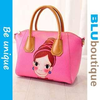 Cute PINK PU LEATHER BAG *1 piece only