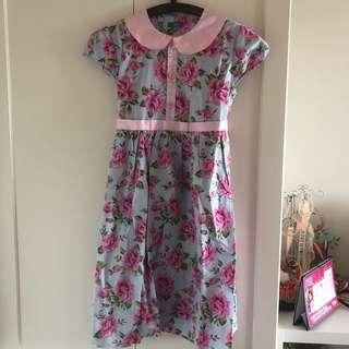 🚚 BNWT Girl's Floral Dress (8 - 10 year olds)