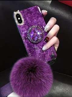 iPhone/OPPO/vivo/華為 手機系列♥創意時髦潮牌網紅款 滴㬵錫箔 水鑽指環扣支架 防摔手機殼