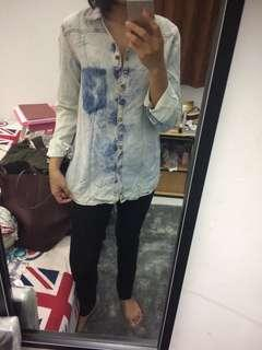 Kemeja jeans denim Zara #bersihbersih