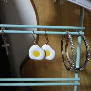 🚚 荷包蛋耳環(針式)