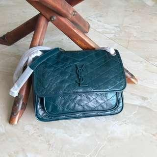 YSL Niki Baby/ Medium in Vintage Leather shoulder bag/ crossbody