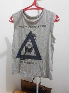 (100 DAPET 3) Zara Grey Sleeveless Tshirt
