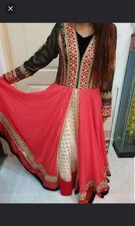 Grand Designer Beautiful Bollywood Anarkali Long Dress