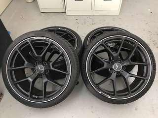 "20"" AMG design staggered rims"