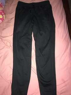Adidas all black trackies (with stripes)