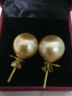 Authentic South sea pearl set 14k