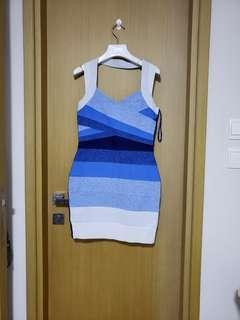 Topshop漸變藍色連身裙