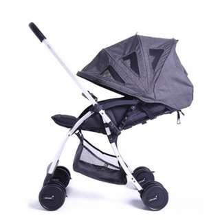 Bonbijou Lucas Light Weight Stroller (Charcoal)