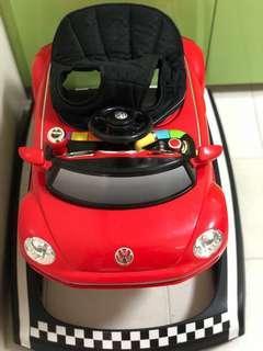 Volkswagen Beetle walker in red