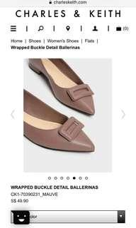 WRAPPED BUCKLE DETAIL BALLERINAS