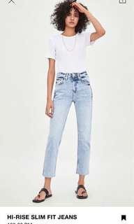Zara Jeans High Rise Slim Fit